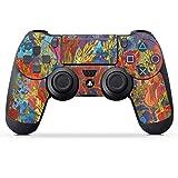 DeinDesign Skin kompatibel mit Sony Playstation 4 PS4 Pro Controller Folie Sticker Kunst Rose Herbst