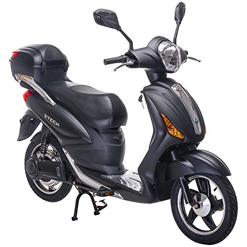 Tecnobike Shop Scooter Bicicletta Elettrica a Pedalata Assistita Z-Tech ZT-09-A 250w 12Ah Batteria al Litio (Nero Opaco)