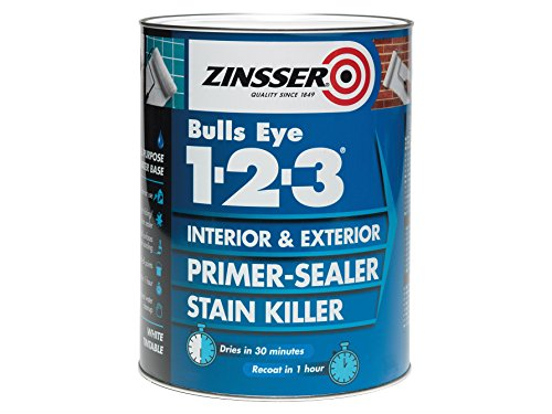 Zinsser 123 Bulls Eye Primer/Apprêt scellant Zinbe1231L – 1 litre, ZINBE12325L 0W, 0V