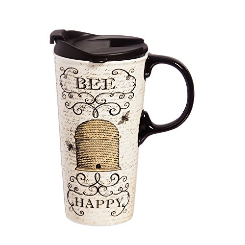 Travel Mug, Bee Happy 17 OZ