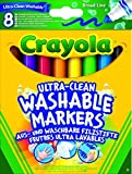 Crayola - 8 Feutres à colorier ultra lavables - se nettoie...