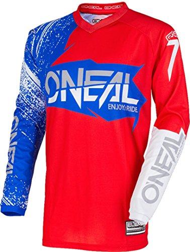 O\'NEAL Element Burnout FR Jersey Trikot lang rot/blau 2018 Oneal: Größe: L (52/54)
