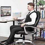 SONGMICS Ergonomischer Bürostuhl, höhenverstellbarer Drehstuhl, robust, stabil und langlebig, schwarz, OBG21B - 3
