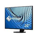 EIZO EV3285-BK 80 cm (31,5 Zoll 4K UHD) Monitor (HDMI, USB 3.1 Typ C, DisplayPort, 5ms Reaktionszeit, Auflösung 3840 x 2160) schwarz