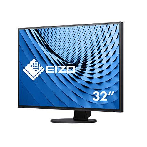 EIZO FlexScan EV3285-BK 80 cm (31,5 Zoll) Ultra-Slim Monitor (HDMI, USB 3.1 Hub, USB 3.1 Typ C, DisplayPort, 5 ms Reaktionszeit, Auflösung 3840 x 2160 (4K UHD)) schwarz