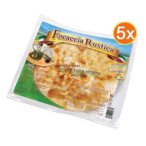 Paket RUSTICA - 5 Packungen Focaccia Rustica mit Olivenöl extra vergine