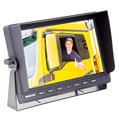 "VSG 10\"" Quad Rückfahrmonitor/Heavy-Duty / 4 Videoeingänge / 12-24 Volt/extrem robust/Bildspiegelung/Kamerastromversorgung/e-Zulassung/Select-Serie"