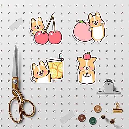 YMSD Corea Ins viento mano cuenta etiqueta engomada perro patrón material teléfono móvil portátil agua taza DIY decoración Shiba Inu pegatinas