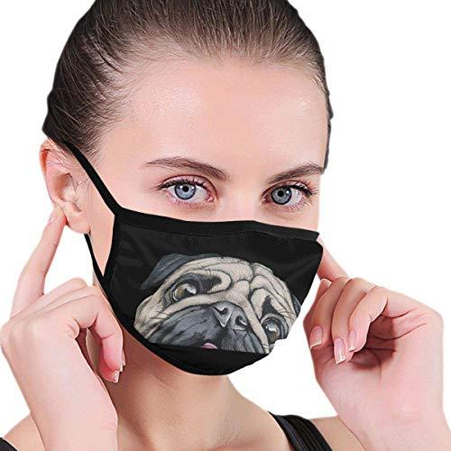 Mops Unisex Graphics Warm wasbaar herbruikbare neuswear hals verwarming wrap openbare plaatsen mondwarmer