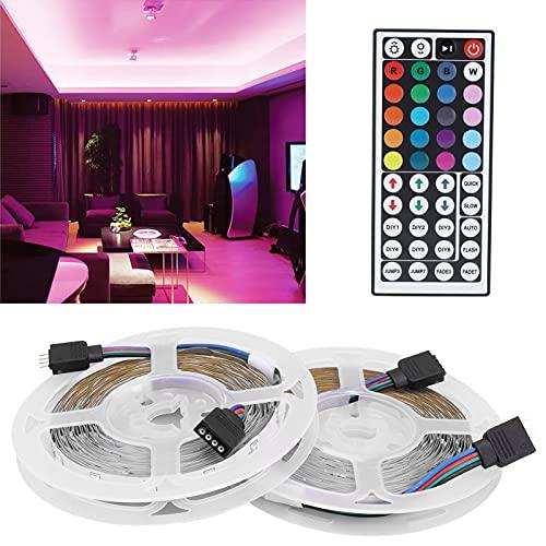 Kit de iluminación de Cinta Flexible, 8 Tipos de Niveles de Brillo Tira de luz LED de 12 V para Techo de iluminación Debajo del gabinete del Dormitorio para Celebraciones de Fiestas de