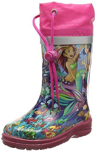 Beck Meerjungfrau, Stivali di Gomma Bambino, Multicolore (Multicolor 50), 21 EU