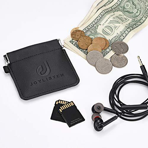 イヤホンケースイヤホンポーチ収納袋小銭入れPUレザー持ち運びに便利フォンのアクセサリ(8.2X8.2cm)JOL-01lobon