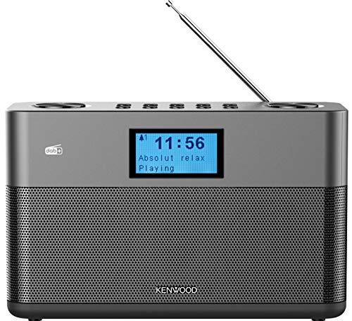 Kenwood CR-ST50DAB-H Stereo-Kompaktradio (DAB+, UKW, Bluetooth, Line-In, Kopfhöreranschluss, Weckfunktion, Farbe Anthrazit)
