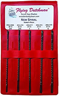 Flying Dutchman New Spiral Five Dozen Scroll Saw Blade Variety Pack