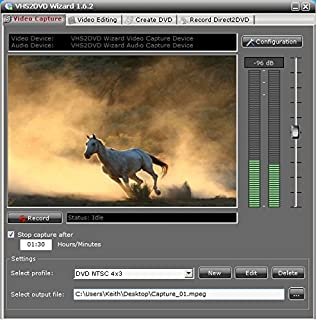 ClearClick VHS To DVD Wizard with USB Video Grabber & Free USA Tech Support للبيع