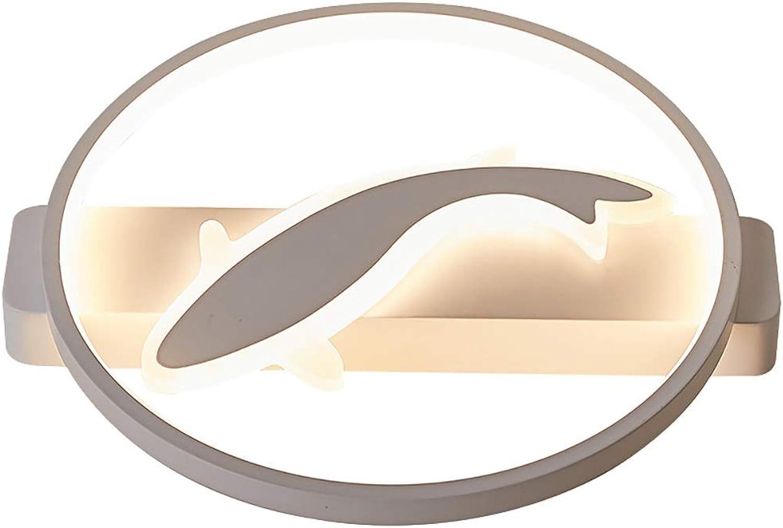 Moderne einfache runde Deckenleuchte Unterputz LED Schlafzimmer Wohnzimmer Studie Decken Hngelampen, Kinderzimmer Acryl Dekoration Deckenleuchte, warme Lichter (Größe   50CM)