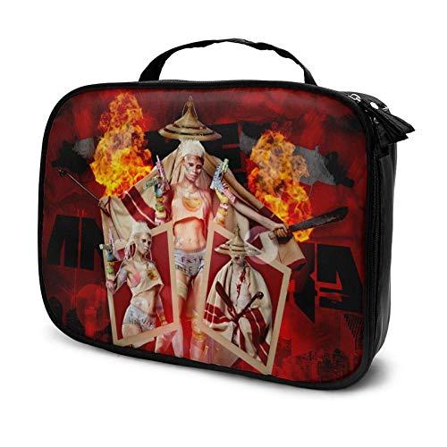 El maletín de maquillaje Antwoord Travel Profional Cosmetic Bag Caja de almacenamiento para cosméticos con compartimento
