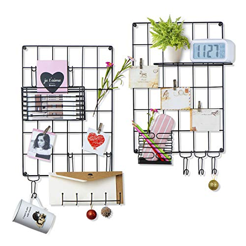Love-KANKEI Wand Organizer DIY Eisen Grid Panel Foto Wand Multifunktion Metall Mesh Wand Dekor/Hanging Photo Art Display & Organizer