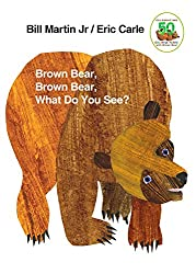 Brown Bear Brown Bear what do you see? A CLASSIC children's story. Very easy to catch on to the pattern and really encourages kids to start reading at even young ages.