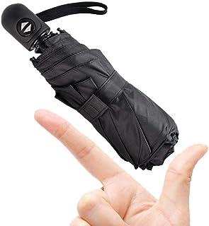 日傘 自動開閉 折りたたみ傘 8本骨ンパクトミニ超軽量傘 晴雨両用 紫外線遮断 耐風撥水 男女兼用 携帯やすい (ブラック)