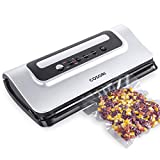 COSORI CP428-VS Built-in Bag Cutter, Automatic Vacuum Sealer Machine Saver, Starter Bgas & Air Suction Hose, Dry & Moist Food Modes, UL/ETL Listed, Silver