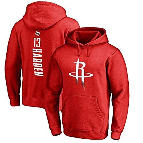 NBA Jersey Con Capucha For Niños Houston Rockets James Harden Capucha De Manga Larga Camiseta De Los Hombres De La Sudadera Con Capucha Cómoda Sudadera Con Capucha ( Color : Red 1 , Size : 3X-Large )