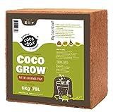 Coco&Coir 5KG (70L) - Fibra De Coco en Ladrillo   100% Natural, Orgánico y Ecológico   Para Mejor Retención de Agua y Nutrientes   Ideal para Lombricultura   Compost de Cascara de Coco Comprimido   30x13x30 cm