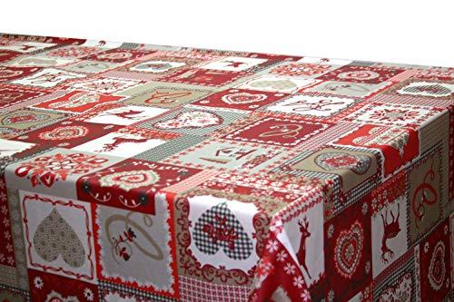 Montse Interiors, S.L. Mantel Antimanchas Navidad (Amore, 140x140)