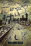 The Walking Dead Poster à l'effigie de The walking dead avec autographes de Norman Reedus/Andrew Lincoln/Jon Bernthal/Sarah Wayne Callies/Laurie Holden/Steven Yeun/Robert Kirkman 30,5x20,3cm