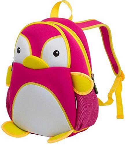 Kids Backpack, icci [Cute] Kids Backpacks Girls Boys Toddler Backpacks Best [School] [Hiking] [Travel] Sidekick Bags, Cute Penguin Pack Backpacks, Hot Pink