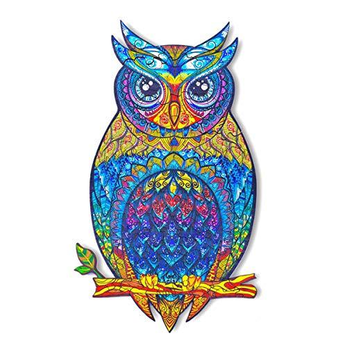 Rompecabezas De Madera con Forma De Búho, Ideal para La Colección De Juegos Familiares (Owl)