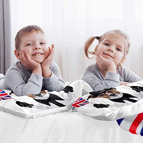 CHINFY Juego de funda de edredón de microfibra suave y ligera, con bolos y gafas, tamaño individual, juego de ropa de cama, decoración del hogar para adolescentes, niños y niñas