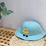 Miminuo Unisex Gorra de,Ran Qi 2020 Nueva protección Infantil Sombrero antiniebla Bola de arroz pies pequeños Primavera y Verano Nuevo Sombrero de Pescador N051-Pequeños pies Light Board Azul