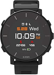 HQYXGS Smart Digital Sports Watch, Waterproof, with Heart Rate Monitor, GPS,Fitness Tracker Color Display,(Black)