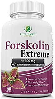Forskolin Extreme Weight Loss Supplement – Premium Extract 100% Pure The Strongest on The Market - Fat Burner and Metabolism Booster - Best 40% Standardized - up to 2 Month Supply