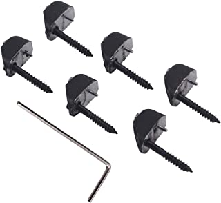 Set of 6 Headless Electric Guitar String Lock Nut DIY Black