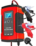 Car Battery Charger, 12V/5A Battery Charger & Maintainer, Automatic Battery Charger with Charge, Maintain and...