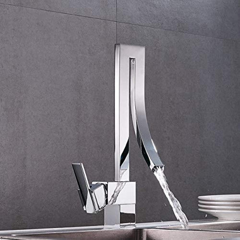 U-Enjoy Kronleuchter 1 Satz Moderne Küche Neue Hochwertiges Design Hahn-Mischer-Kalt-Und Küche-Hahn-Einzel Hot Loch Wasserhahn Torneira Cozinha Y40024 Chrome Kostenloser Versand