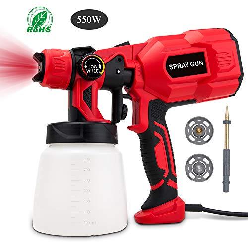 BOZILY Paint Sprayer, 550 Watt High Power HVLP Home...