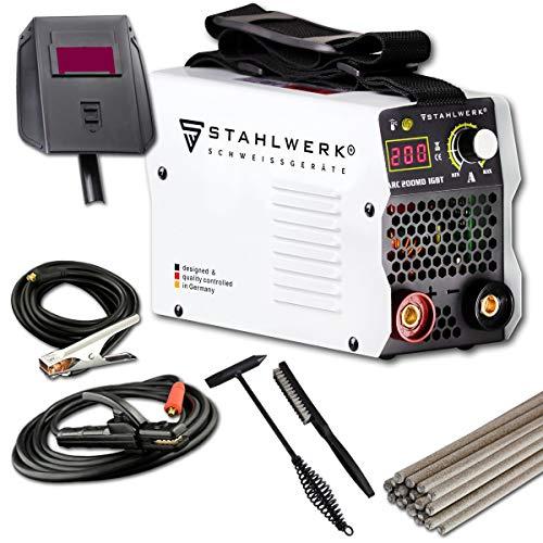 Preisvergleich Produktbild STAHLWERK ARC 200 MD IGBT - Schweißgerät DC MMA / E-Hand Welder mit echten 200 Ampere sehr kompakt,  weiß,  7 Jahre Herstellergarantie