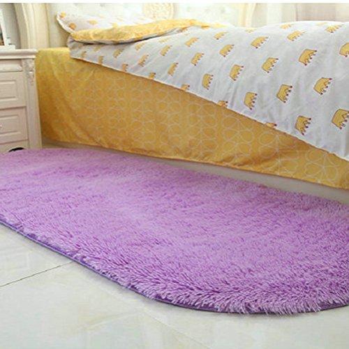tapijt dikke harige ovaal tapijt woonkamer salontafel slaapkamer bed