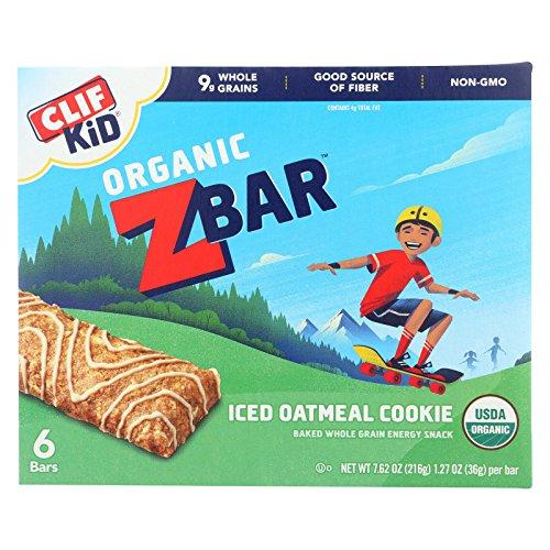 Clif Kid Zbar Organic Iced Oatmeal Cookie Energy Bar, 7.62 Ounce - 12 per case.