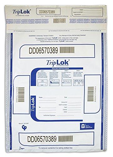 12 X 16 TripLok, White w/Pocket, 100 Deposit Bags