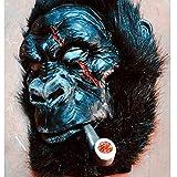 ビーストナイトブラックチンパンジーオートバイマスクヘッドモンキーマスクラテックスマスカレードハロウィーンマスクハロウィーンモンスター