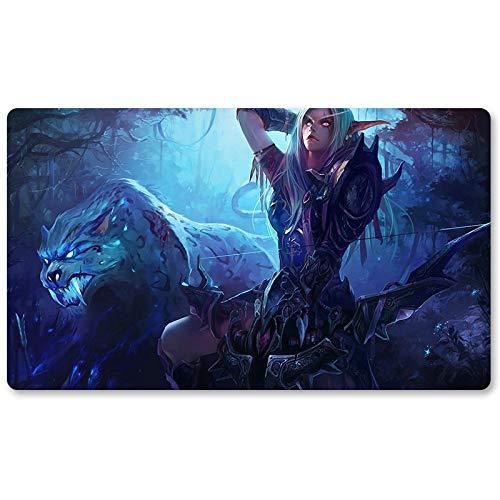 Warcraft54 - Brettspiel Warcraft Spielmatte Wow Tischmatte Spiele Tastatur Pad Größe 60 x 35 cm World of Warcraft Mauspad für Yugioh Pokemon MTG oder TCG