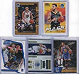 Stephen Curry Golden State Warriors Assorted Basketball Cards 5 Card Lot