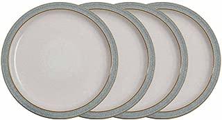Denby Elements 4 Piece Dinner Plate Set, Grey