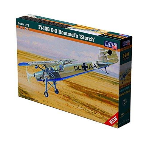 MisterCraft 'Fi-156 C3 Rommels Storch Kit per modellismo, in plastica