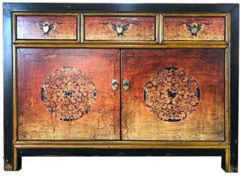 OPIUM OUTLET Cómoda aparador Consola cajonera Armario gabinete guardarropa Chino Asiatico Oriental Antiguo Vintage Shabby-Chic Colonial