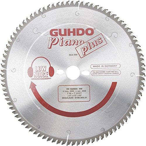 GUHDO Piano-Plus HW-Kreissägeblatt 420x4,2 | Bohrung 2,8x40mm | Z54 W negativ | Made in Germany